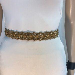Gold beaded belt